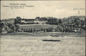 wx40390 Rheinweiler Gasthaus Sternen Schiff x