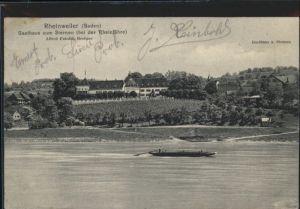 Rheinweiler Gasthaus Sternen Schiff x