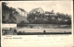 Rheinweiler Rheinbad Rheinfaehre Gasthaus Sternen x