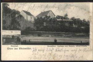 Rheinweiler Rheinfaehre Gasthaus Sternen x