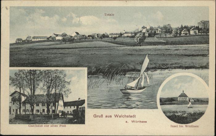 Walchstadt Gasthaus zur alten Post Insel Woerthsee x