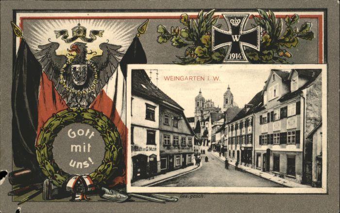 Weingarten Wuerttemberg Weingarten Flagge x / Weingarten /Ravensburg LKR
