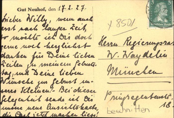 Neuhof Zenn Gut Neuhof Nr. wx42138 - oldthing: Ansichtskarten ...