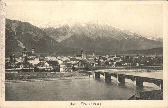 Hall Tirol Bruecke Kat. Hall in Tirol