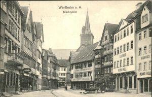 Wertheim Main Marktplatz Brunnen Kaufhaus Menko Held Kat. Wertheim