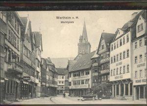 Wertheim Main MarktplatzBrunnen Kaufhaus Menko Held Kat. Wertheim