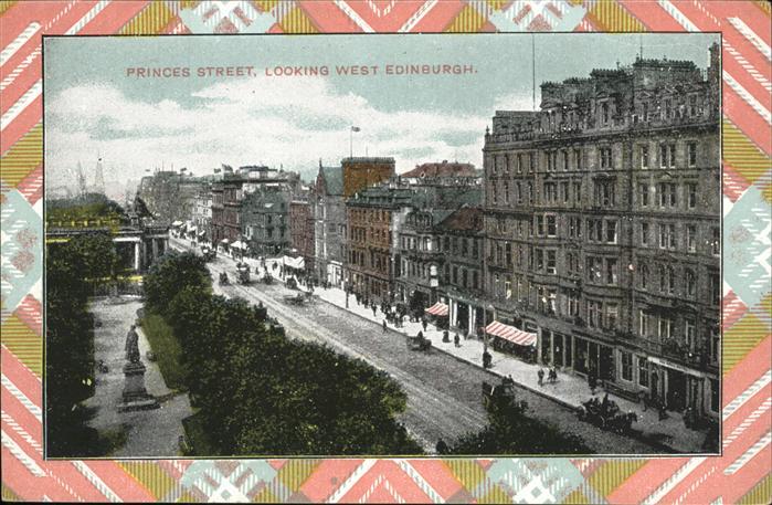 Edinburgh Princess Street Kat. Edinburgh