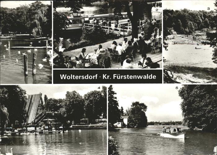 Woltersdorf Erkner Spree Boot Strandbad / Woltersdorf Erkner /Oder-Spree LKR