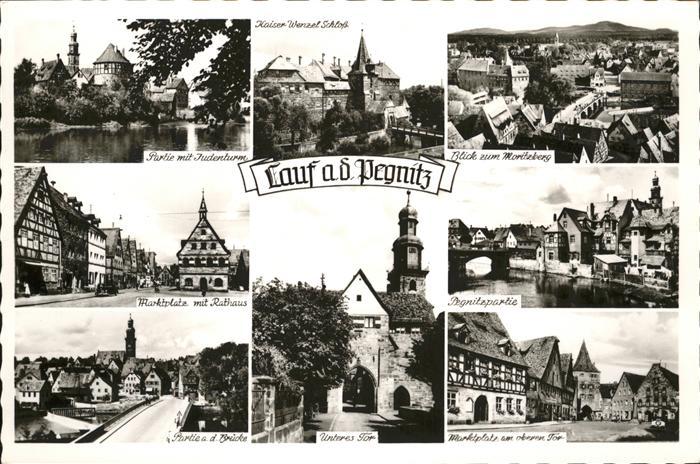 Lauf Pegnitz Kaiser Wenzel Schloss  Judenturm Marktplatz Rathaus Bruecke / Lauf (Pegnitz) /Nuernberger Land LKR