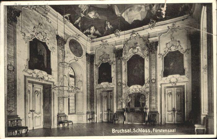 Bruchsal Bruchsal Schloss Fuerstensaal x / Bruchsal /Karlsruhe LKR