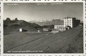 Rochers de Naye Dents du Midi Glacier du Trient Kat. Rochers de Naye
