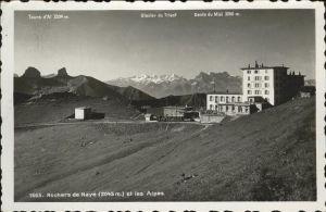 Rochers de Naye Dents du Midi Glacier Trient  Kat. Rochers de Naye
