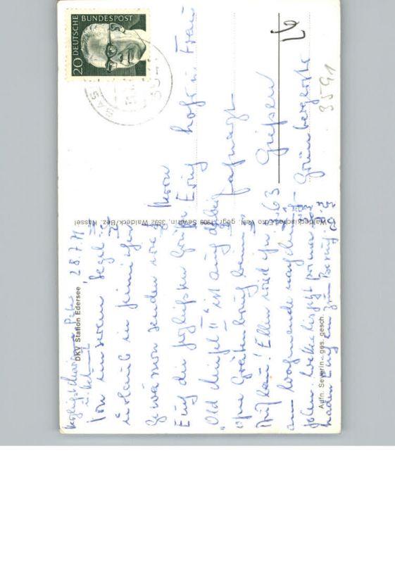 Edersee D.K.V. Kanustation / Edertal /Waldeck-Frankenberg LKR 1