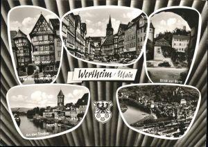 Wertheim Main Burg Tauber Markt / Wertheim /Main-Tauber-Kreis LKR