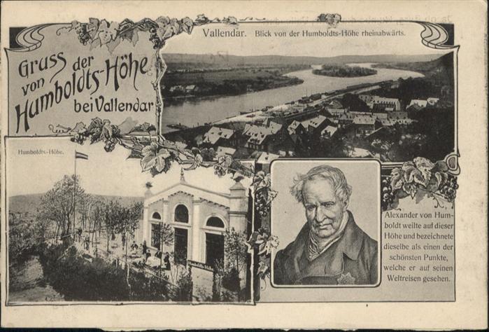 Vallendar Humboldts-Hoehe Alexander von Humboldt *