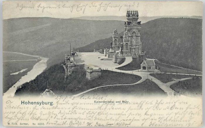 Hohensyburg Hohensyburg Kaiserdenkmal x / Dortmund /Dortmund Stadtkreis