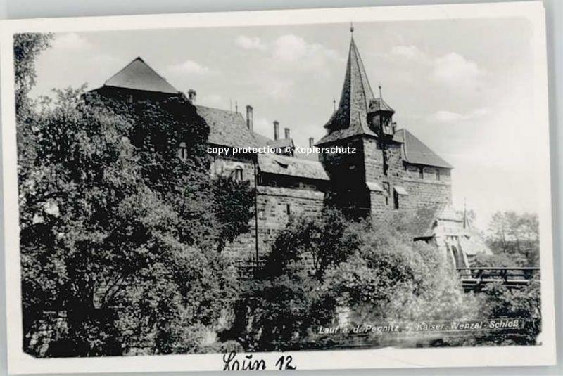 Lauf Pegnitz Kaiser Wenzel Schloss  * 1955