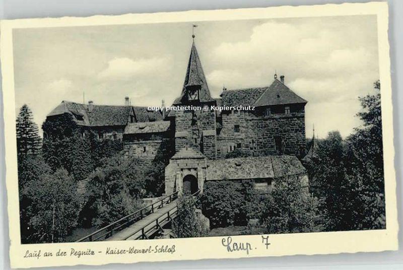 Lauf Pegnitz Kaiser Wenzel Schloss  * 1940