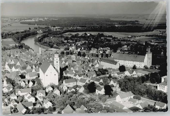 Lauingen Donau Lauingen Fliegeraufnahme * / Lauingen (Donau) /Dillingen Donau LKR