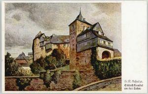 Runkel Lahn Runkel Kuenstlerkarte Schloss Runkel * / Runkel /Limburg-Weilburg LKR