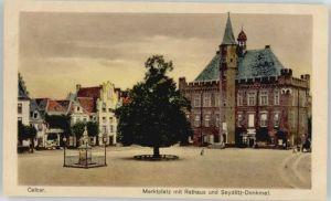 Kalkar Niederrhein Kalkar Marktplatz Rathaus Seydlitz-Denkmal * / Kalkar /Kleve LKR