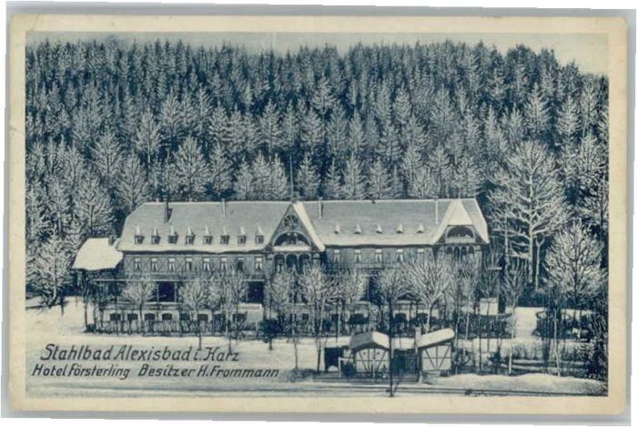 Alexisbad Harz Alexisbad Hotel Foersterling Bahnhof Villa x / Harzgerode /Harz LKR