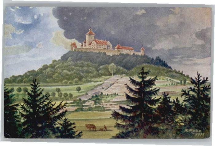 Arnstadt Ilm Arnstadt Feste Wachsenburg Kuenstler H. Rabe x / Arnstadt /Ilm-Kreis LKR