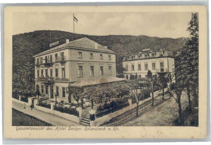 Rolandseck Rolandseck Hotel Decker * / Remagen /Ahrweiler LKR