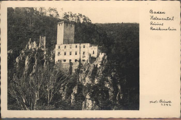 Baden Wien Baden Helenental Ruine Rauhenstein / Baden /Wiener Sueden