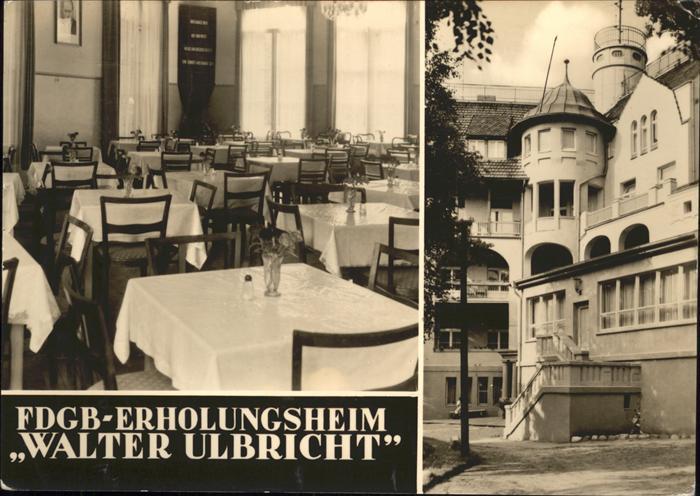 Koserow Erholungsheim Walter Ulbricht /  /