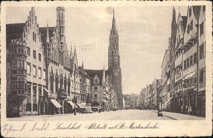 Landshut Altstadt St. Martinskirche / Landshut /Landshut LKR