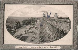 Bad Elmen Bahnhof Spielplatz Gradirwerk / Schoenebeck /Salzlandkreis LKR