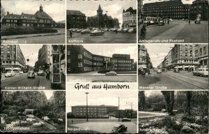 Hamborn Amtsgericht Postamt Rathaus Bahnhof Kaiser Wilhelm Strasse Bergschule  / Duisburg /Duisburg Stadtkreis