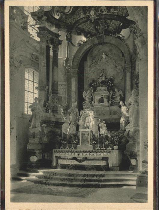 Birnau Wallfahrtskirche Hochaltar / Uhldingen-Muehlhofen /Bodenseekreis LKR