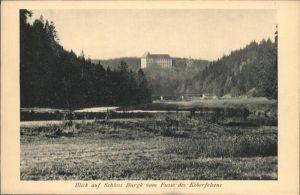 Schleiz Koberfelsen Schloss Burgk / Schleiz /Saale-Orla-Kreis LKR
