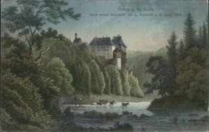 Schleiz Schloss Burgk Saale Stich / Schleiz /Saale-Orla-Kreis LKR