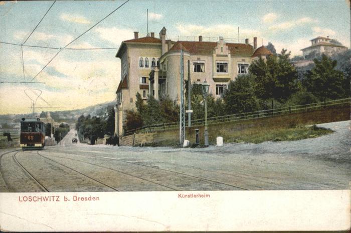 Loschwitz Loschwitz Dresden Strassenbahn Kuenstlerheim x / Dresden /Dresden Stadtkreis