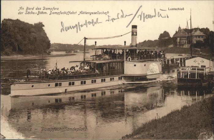 Pillnitz Dampfer Lustschloss *