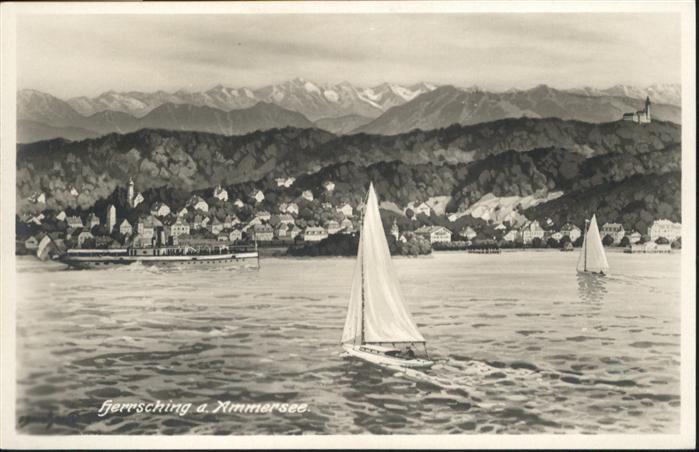Herrsching Ammersee Herrsching Segelboote * / Herrsching a.Ammersee /Starnberg LKR