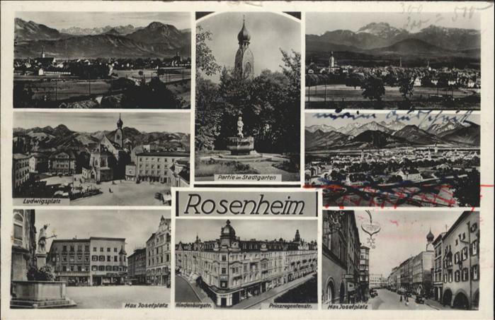 Rosenheim Oberbayern Stadtgarten Max Josefplatz Prinzregentenstrasse Ludwigsplatz