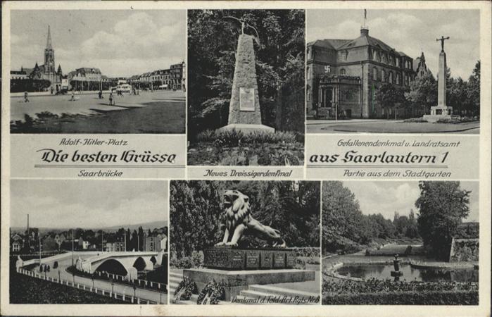 Saarlouis Saarlautern A.H.Platz Gefallenendenkmal Landratsamt Dreissigerdenkmal