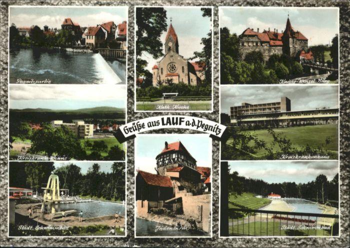 Lauf Pegnitz Krankenhaus Schwimmbad Kirche Kaiser Wenzel Burg Judenturm x