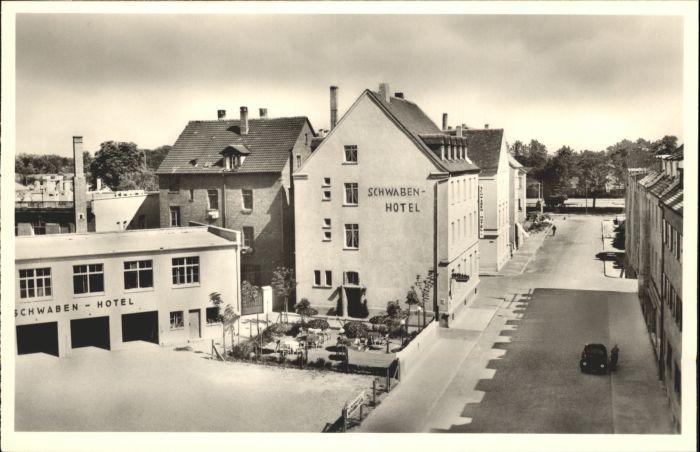 neu ulm donau schwabenhotel nr wx33942 oldthing ansichtskarten deutschland unsortiert. Black Bedroom Furniture Sets. Home Design Ideas