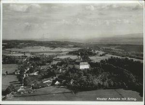 Kloster Andechs Fliegeraufnahme Erling Kat. Andechs