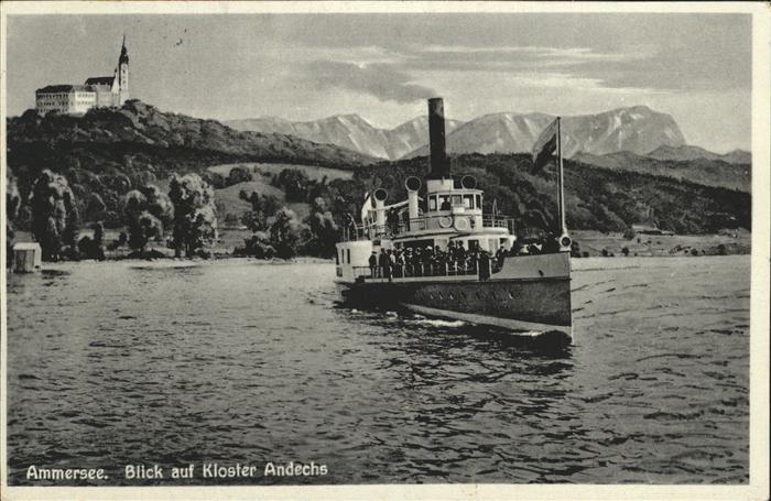Kloster Andechs Ammersee Dampfer Kat. Andechs