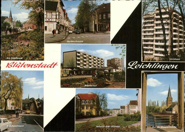 Leichlingen Rheinland Bluetenstadt, Gartenstrasse, Wupperbruecke / Leichlingen (Rheinland) /Rheinisch-Bergischer Kreis LKR