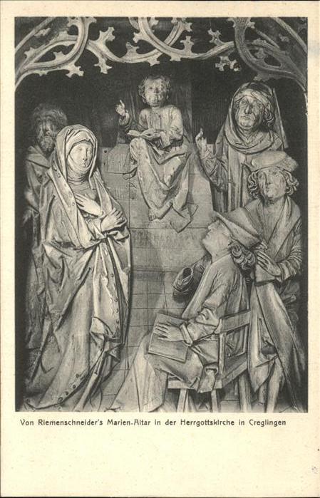 Creglingen Riemenschneiders Marien Altar Kat. Creglingen
