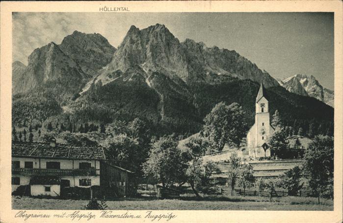 Obergrainau Alpspitze Zugspitze Kat. Grainau