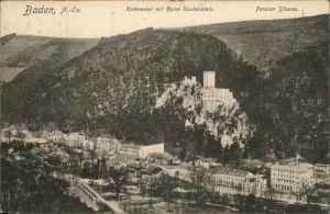 Baden Wien Helenental Ruine Rauhenstein Pensino Silvana Kat. Baden
