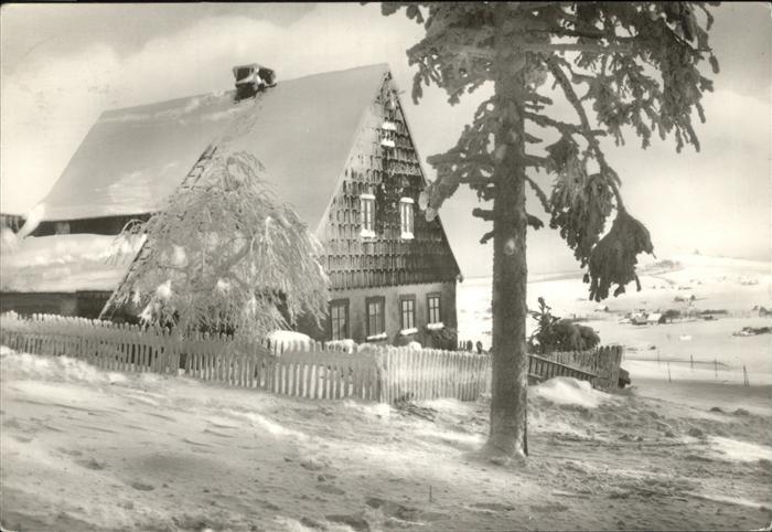 Seiffen Schwartenberg Kurort Winter Kat. Kurort Seiffen Erzgebirge